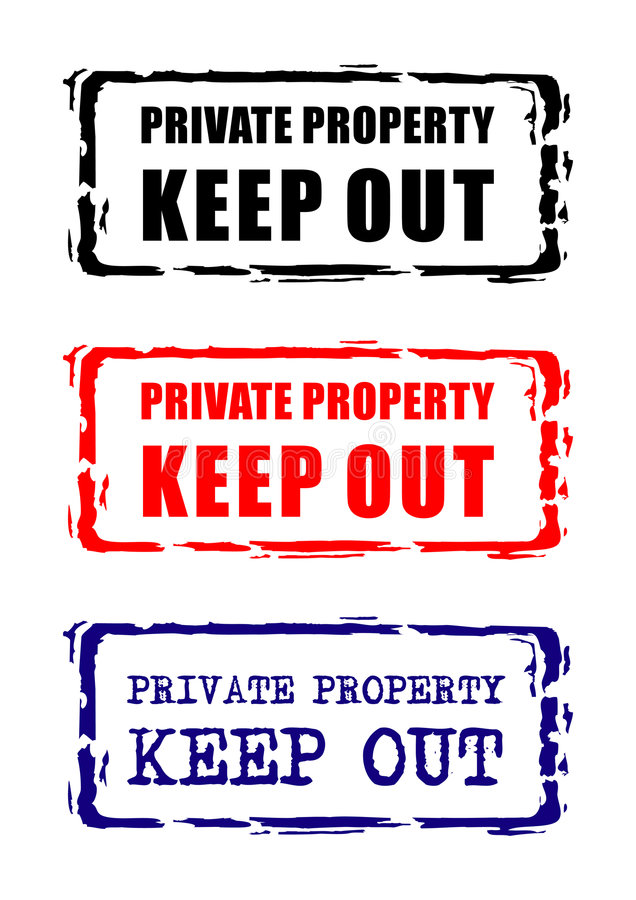 Private property sign. Vector illustration royalty free illustration