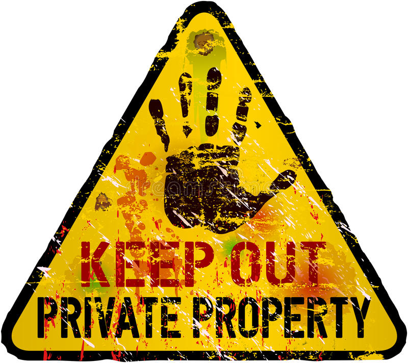 Download Private property sign stock vector. Illustration of people - 33998692