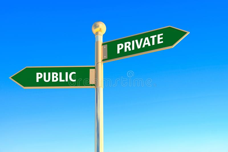Private or public vector illustration