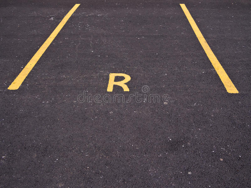 Empty Reserved Car Parking Bay stock photo