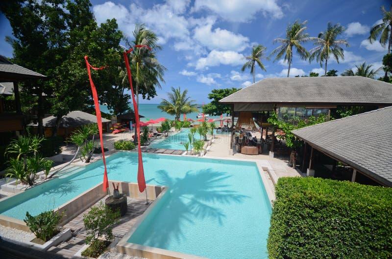 Private resort beach stock photos