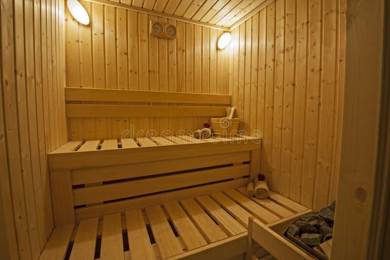 Private Sauna in einem Gesundheitsbadekurort stockbilder