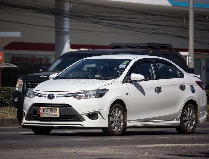 Private Sedan car Toyota Vios stock photography