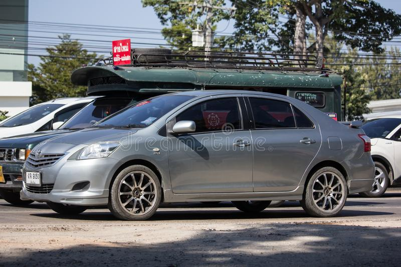 Private Sedan car Toyota Vios royalty free stock photography