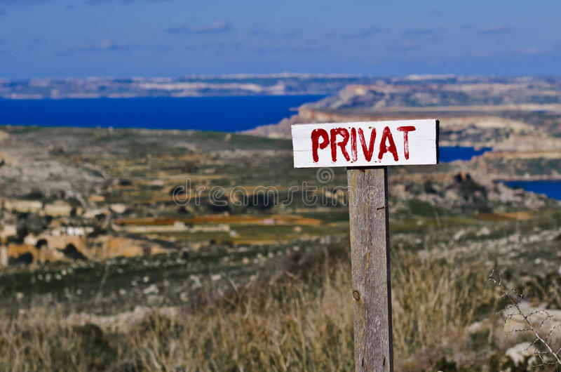 Download Private Sign Stock Image - Image: 36103501