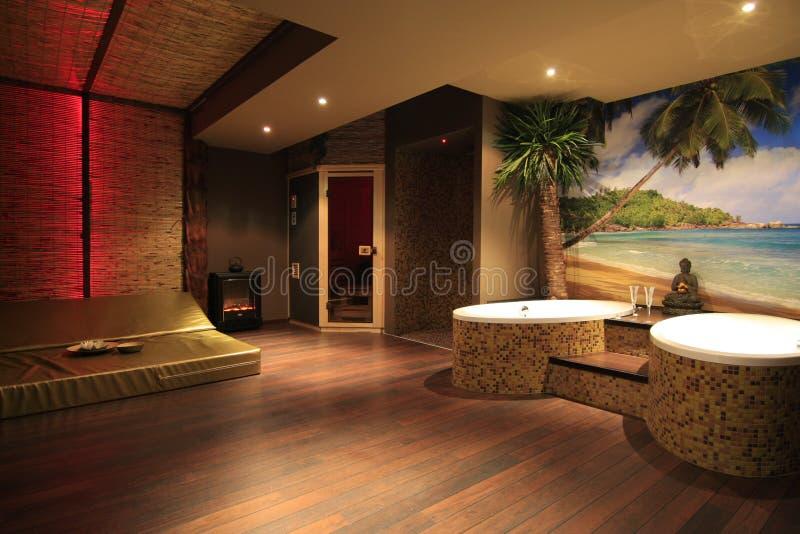 Private spa ruimte royalty-vrije stock afbeeldingen