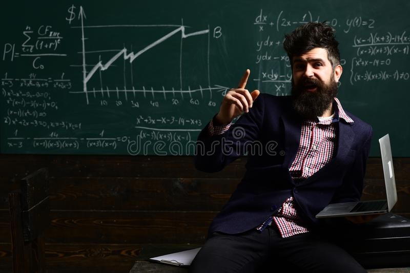 Private tutors often have vast teaching experience. Private tutor usually needs coaching. internet school concept stock image