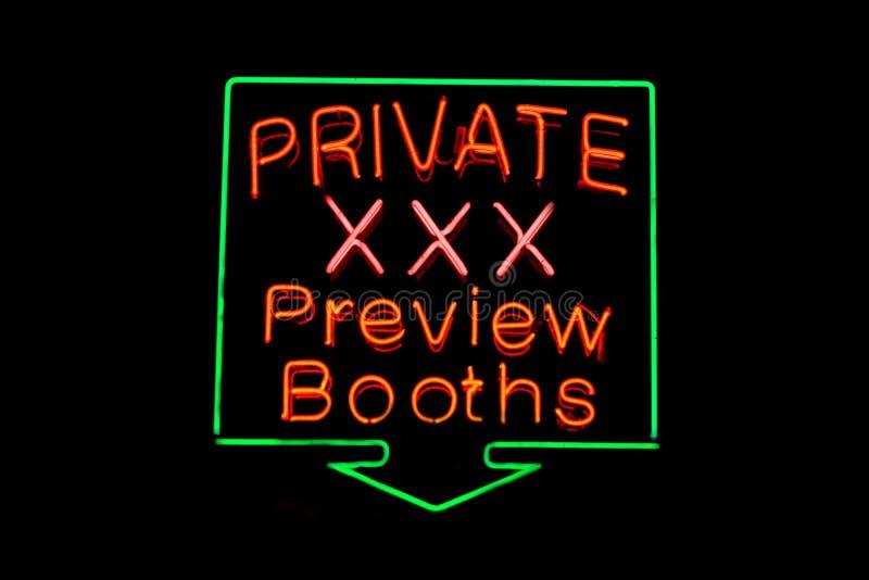 Private XXX neon sign