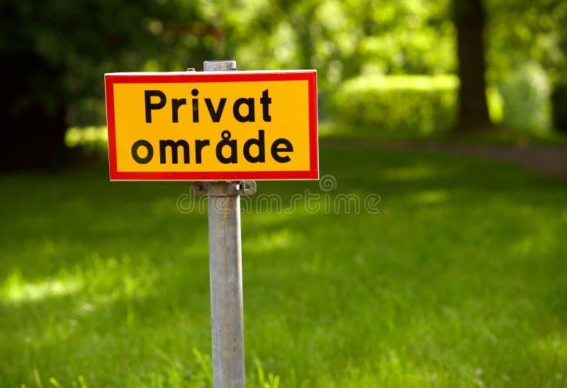 Privater Bereich stockbilder
