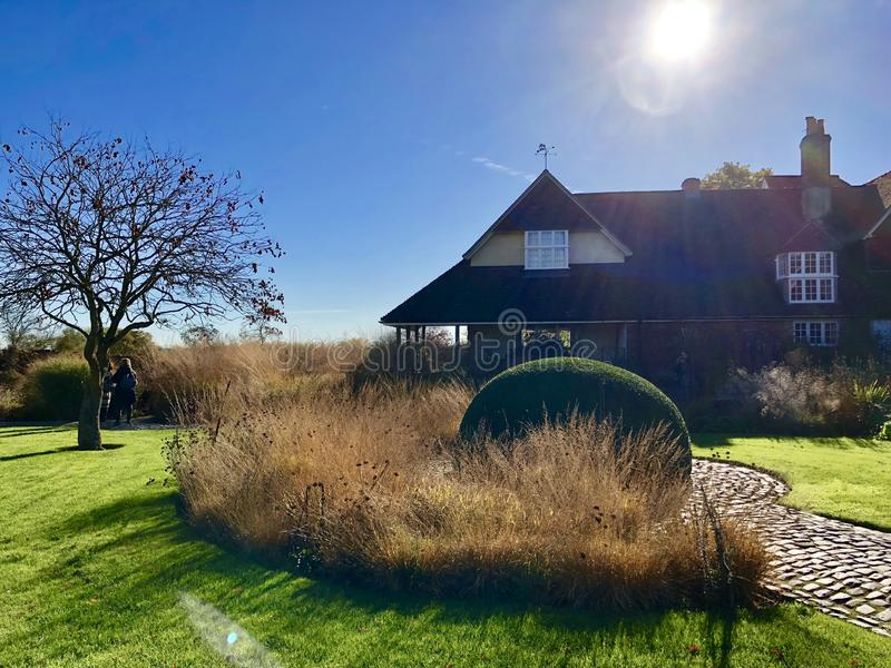 Privater Garten in England entwarf durch Pier Autdolf stockfotografie