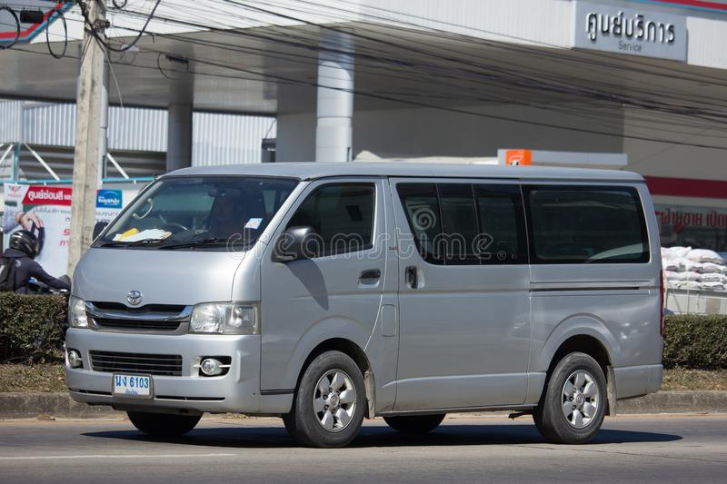 Privater Packwagen Toyotas Hiace stockfotografie