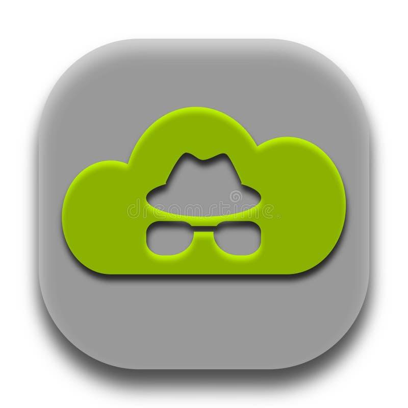 Privates Coud-Anwendungs-Ikonen-Vektor-Design lizenzfreie stockbilder