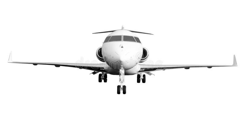 Privates Düsenflugzeug getrennt auf Weiß lizenzfreie stockfotos
