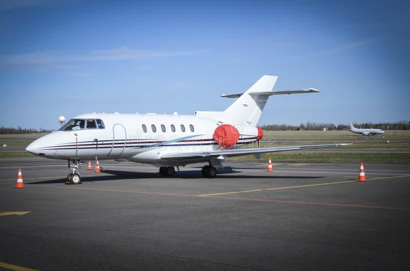 Privates Geschäftsflugzeug stockfoto
