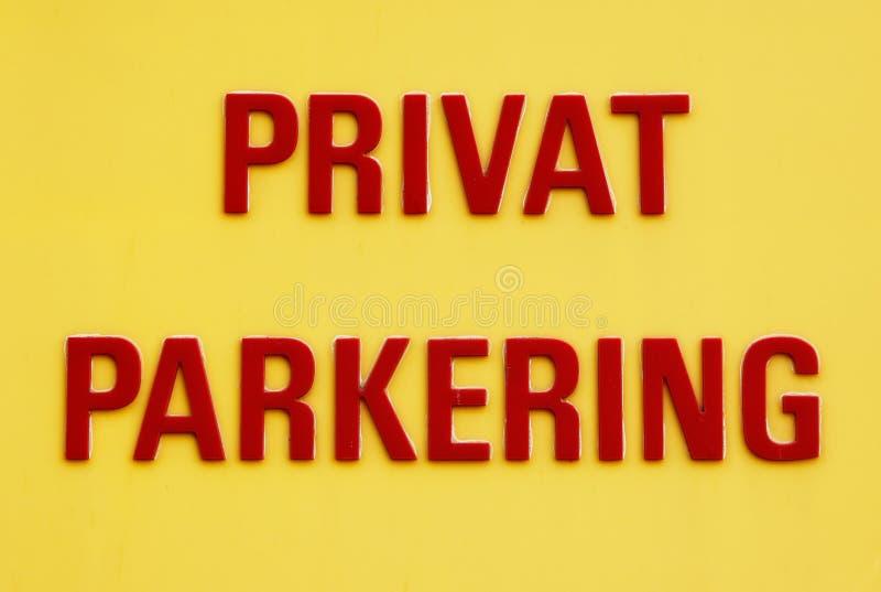 Privates Parkenzeichen lizenzfreies stockbild