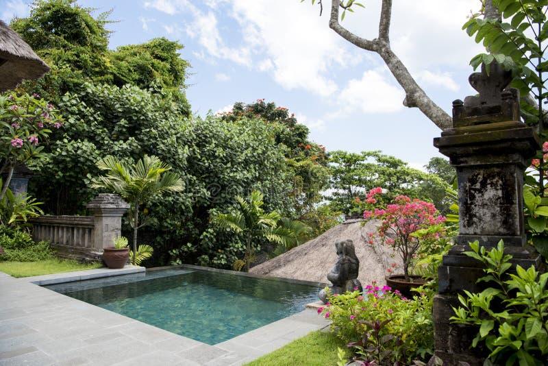 Privates Pool in Balinese Erholungsort lizenzfreie stockfotografie