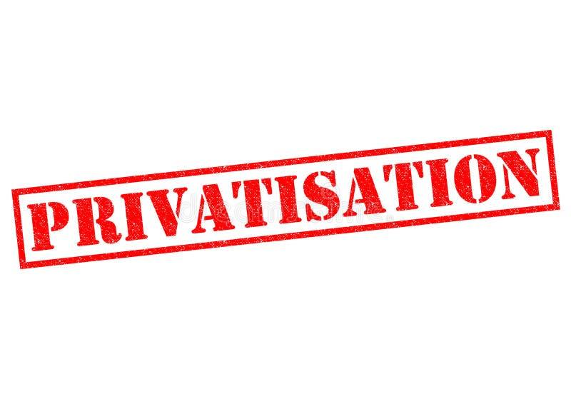 privatização ilustração stock