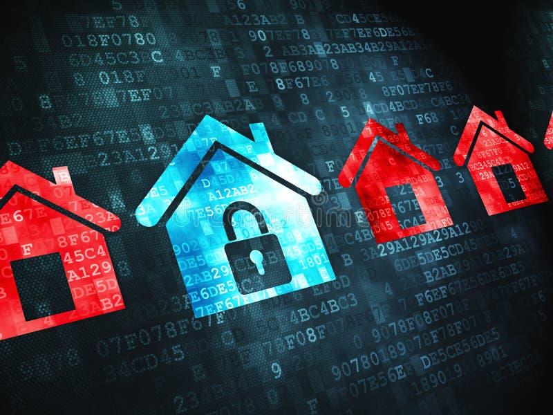 Privatlebenkonzept: auf digitalem Hintergrund lizenzfreie abbildung