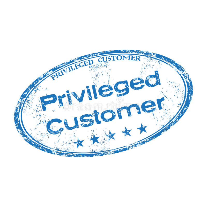 Privileged customer rubber stamp royalty free stock photo