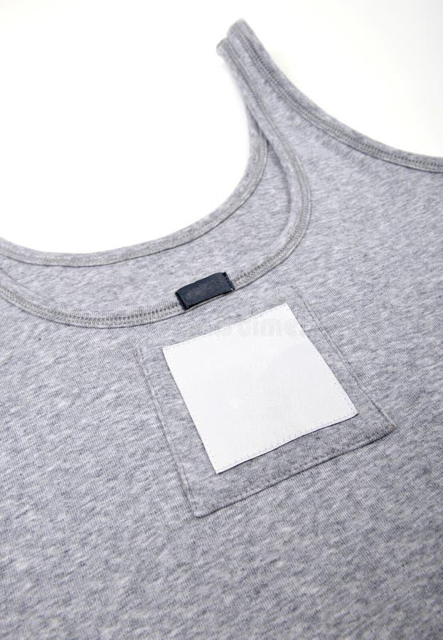 Prix à payer avec code barres sur la chemise image libre de droits