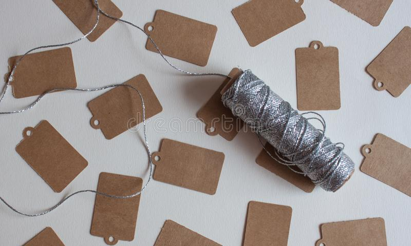 Prix à payer de Papier d'emballage image stock