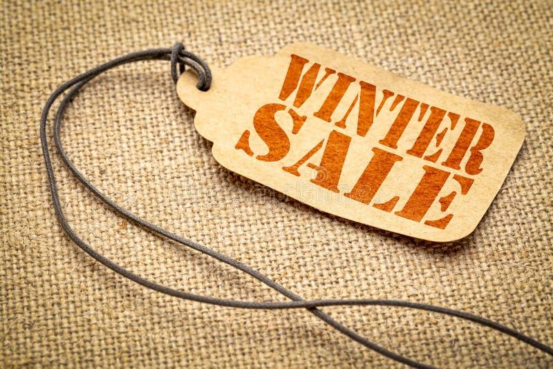 Prix à payer de vente d'hiver photographie stock