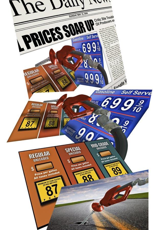 Prix d'essence d'essence images stock