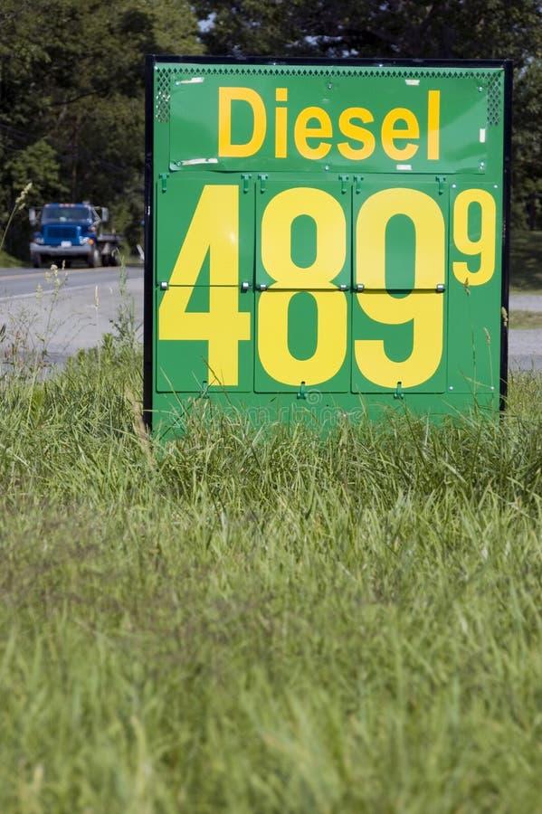 Prix d'essence diesel. photos libres de droits