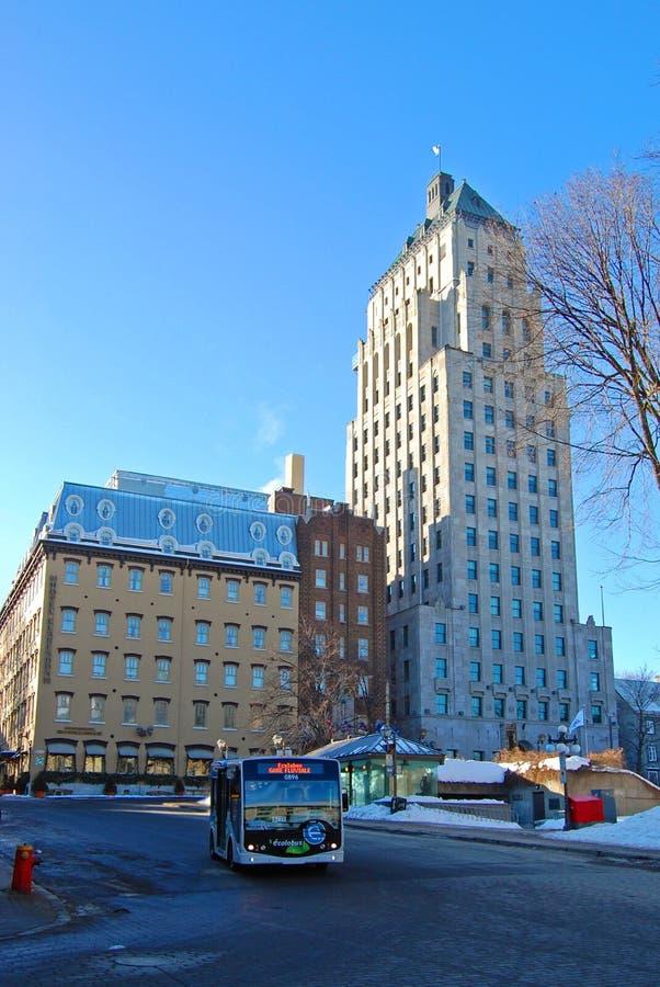 Prix d'hôtel et d'édifice de Clarendon, Québec, Canada image libre de droits