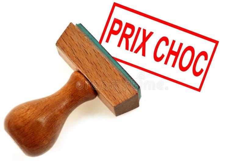 Prix de choc écrit en français illustration de vecteur