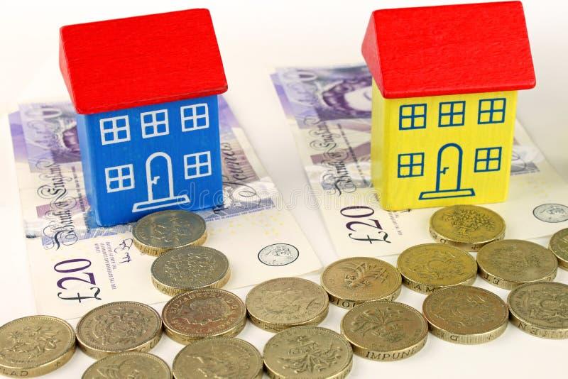 Prix de logements britanniques images stock