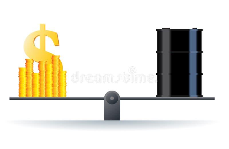Prix du pétrole illustration stock