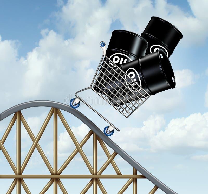 Prix du pétrole en baisse illustration de vecteur