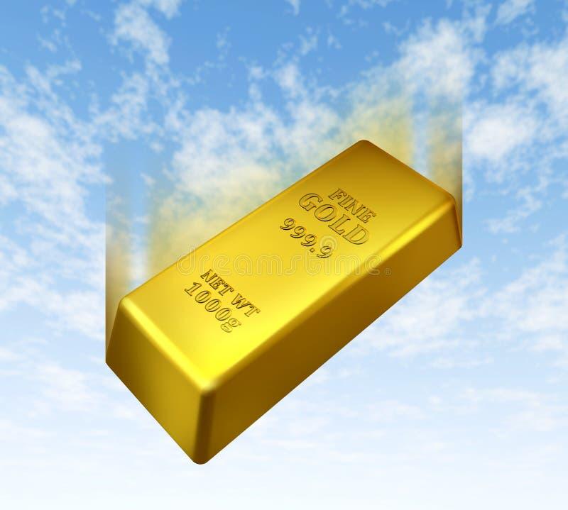 Prix en baisse d'or illustration de vecteur