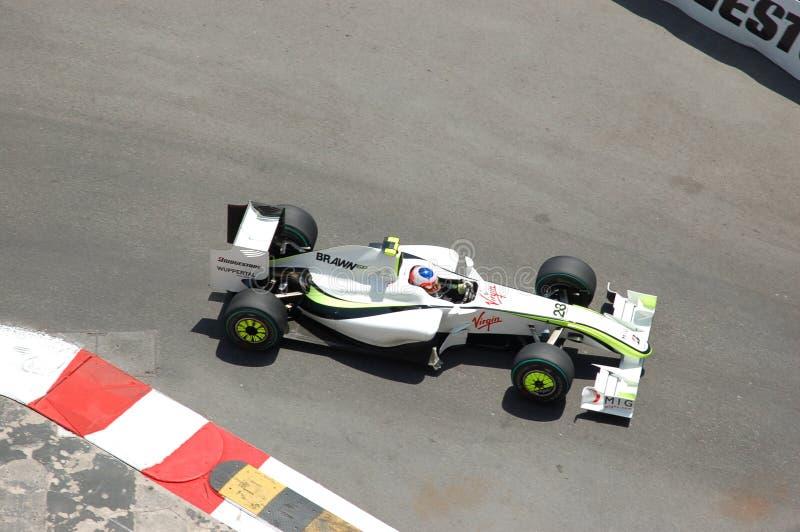 Prix grande Monaco 2009, Brawn de Barrichello fotografia de stock