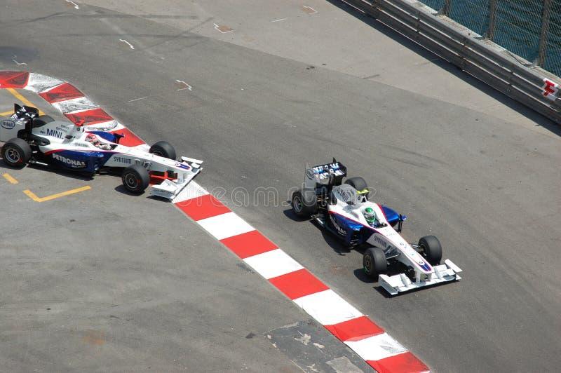 Prix grande Monaco 2009, duelo de BMW fotografia de stock royalty free