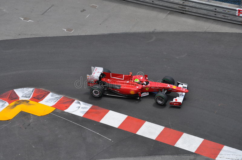 Prix grande Monaco 2010, Ferrari de Felipe Massa imagem de stock
