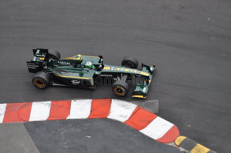 Prix grande Monaco 2010, lótus de Heikki Kovalainen imagem de stock