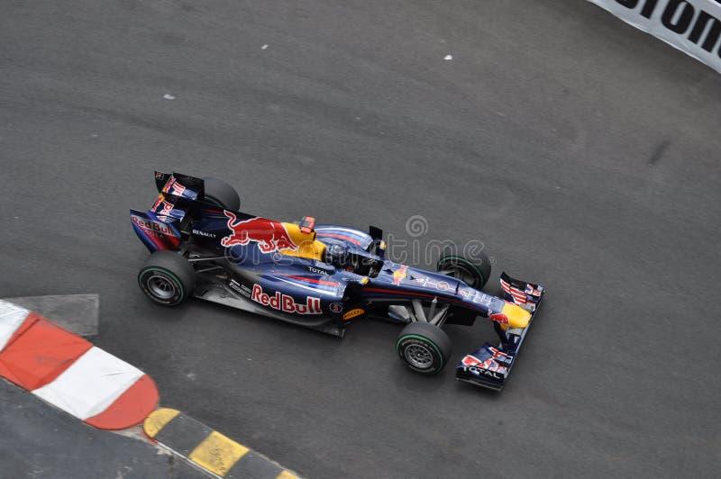 Prix grande Monaco 2010, Red Bull da marca Webber foto de stock royalty free