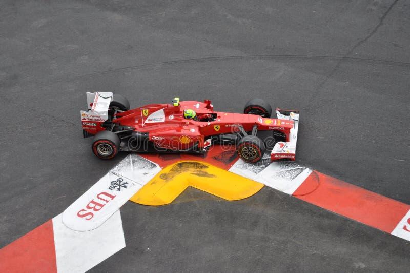 Prix magnífico Mónaco 2012 - Ferrari de Felipe Massa fotos de archivo libres de regalías