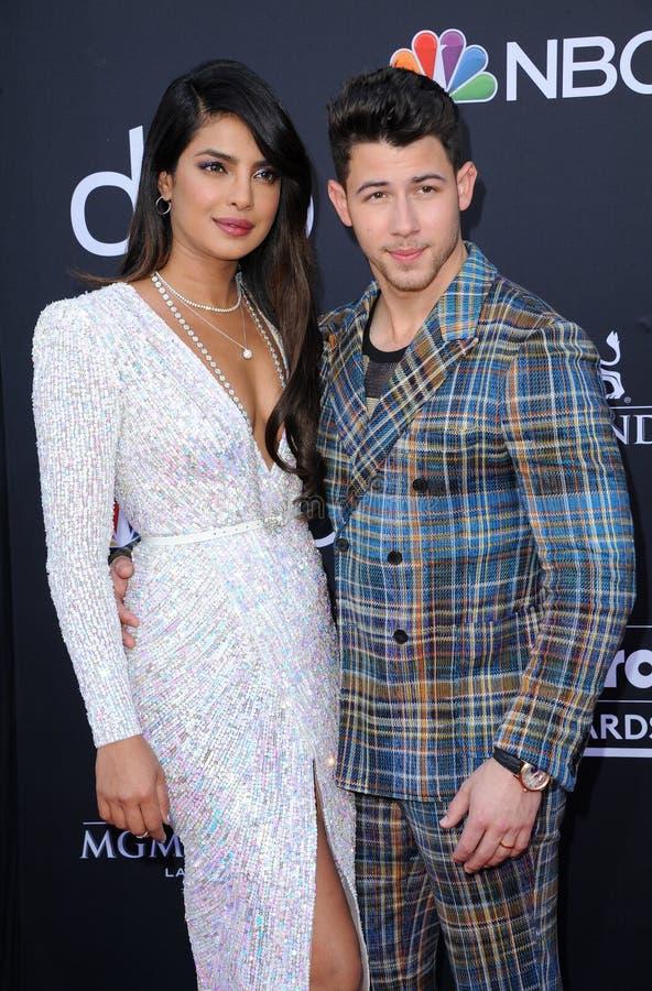 Priyanka Chopra et Nick Jonas image libre de droits