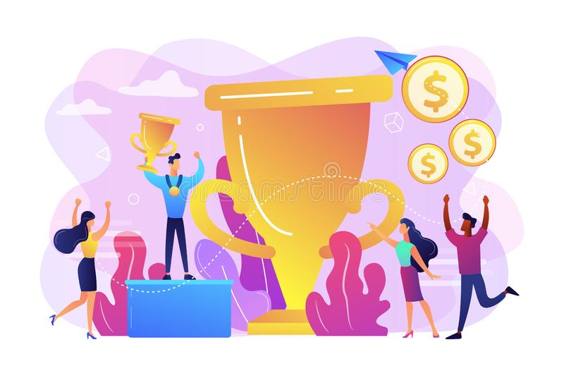 Prize pool concept vector illustration. stock illustration