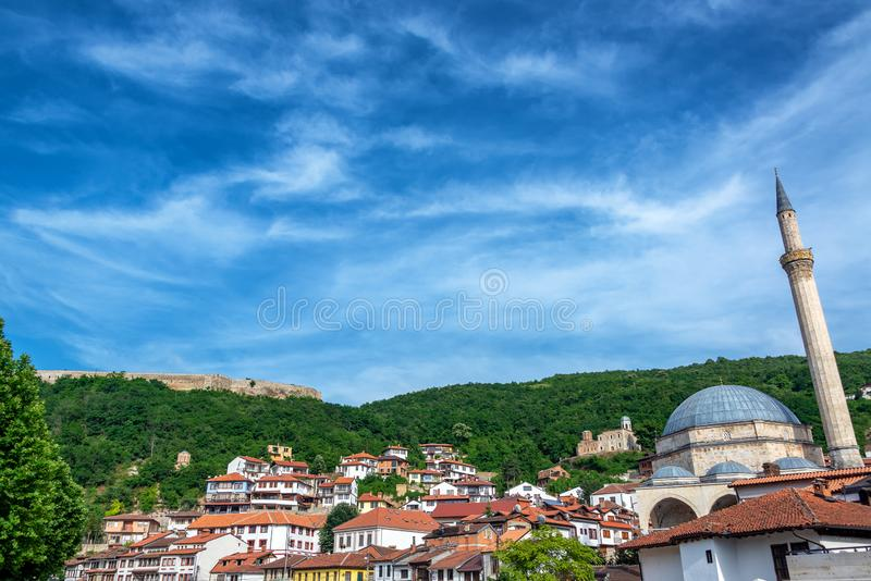 Prizren, Kosovo view with Fortress stock images