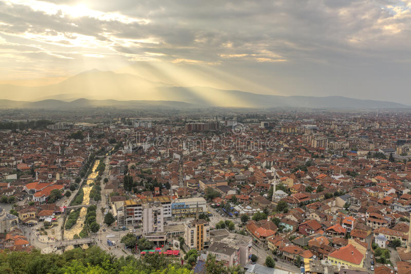 Download Prizren at sunset stock photo. Image of balkans, second - 17829640