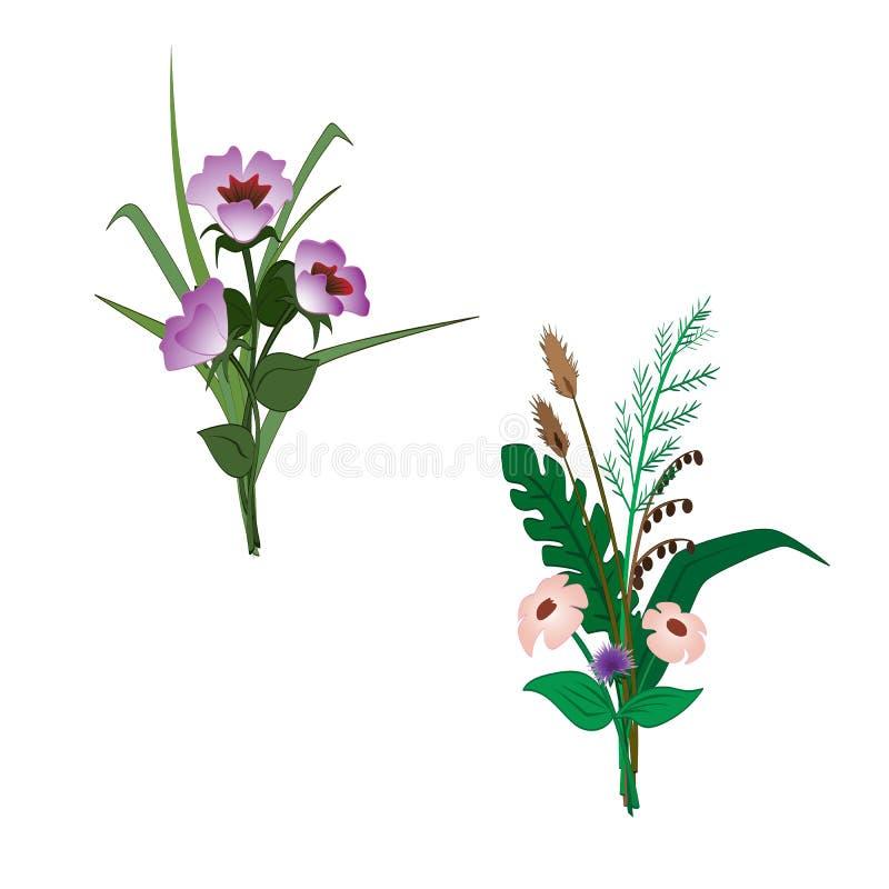 Prości bukiety kwiaty obrazy stock
