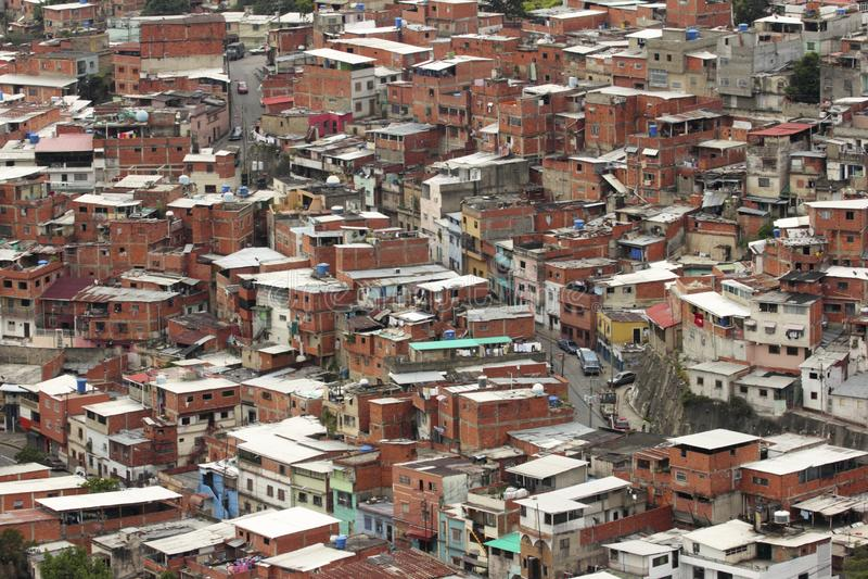Prości domy lub ranchos w Caracas, Wenezuela obrazy stock