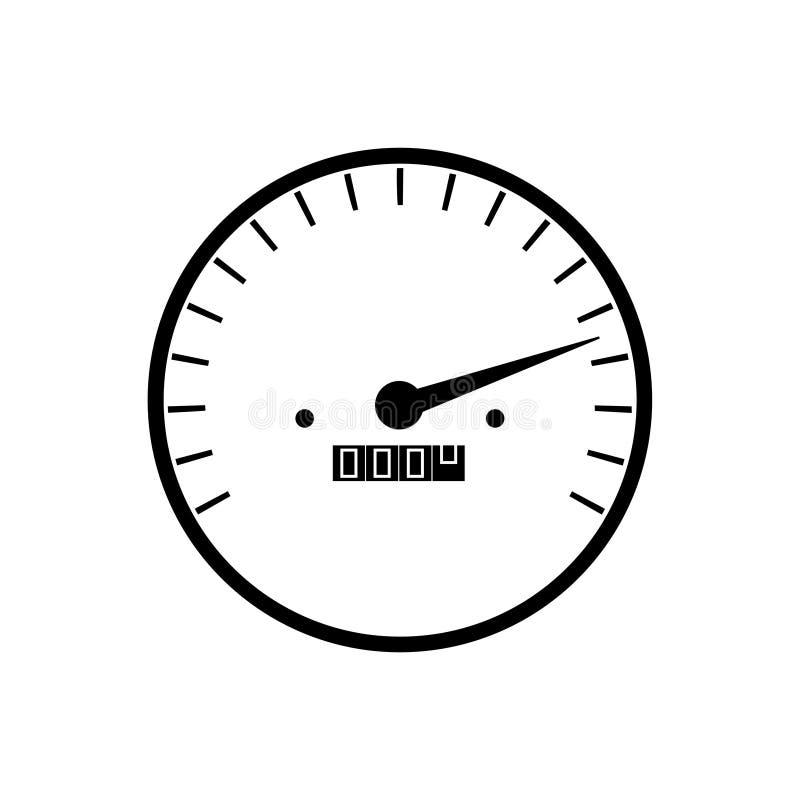 Prości szybkościomierzy wymierniki w czarny i biały kolorze - odgórna prędkość royalty ilustracja