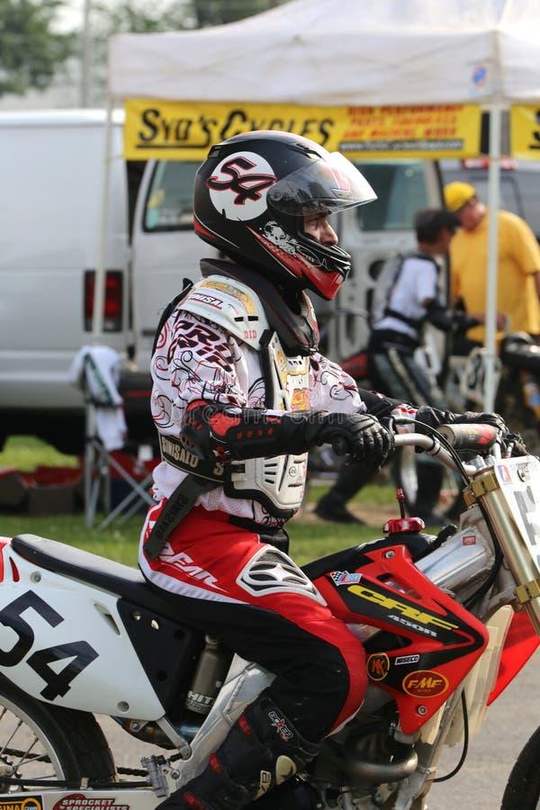 Pro всадник мотоцикла стоковое изображение