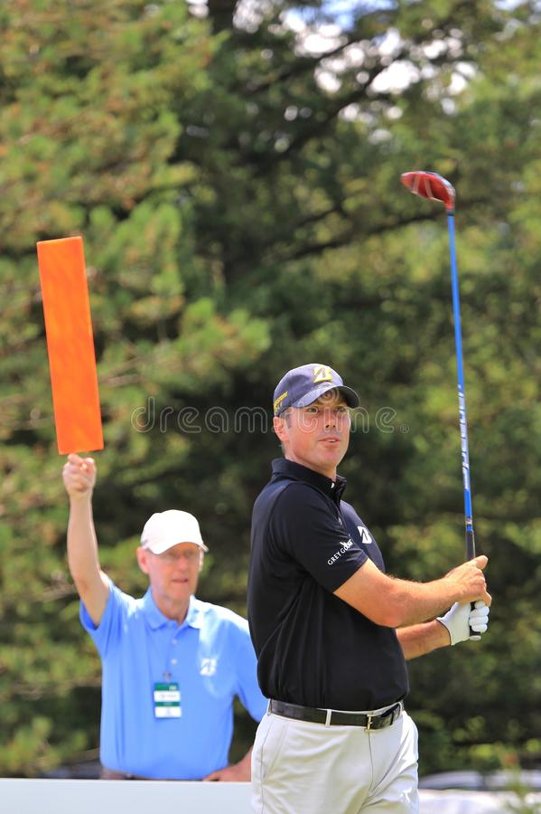 Pro игрок в гольф Matt Kuchar стоковые изображения