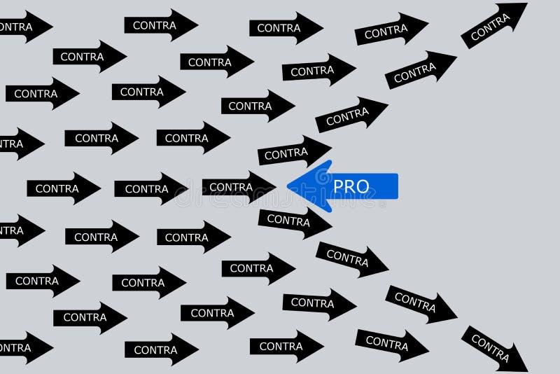 Pro и против зачатие иллюстрация вектора